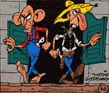 Les O'Timmins et O'Hara dans Lucky Luke